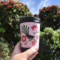 Pink Fantails Cuppa Coffee Cup