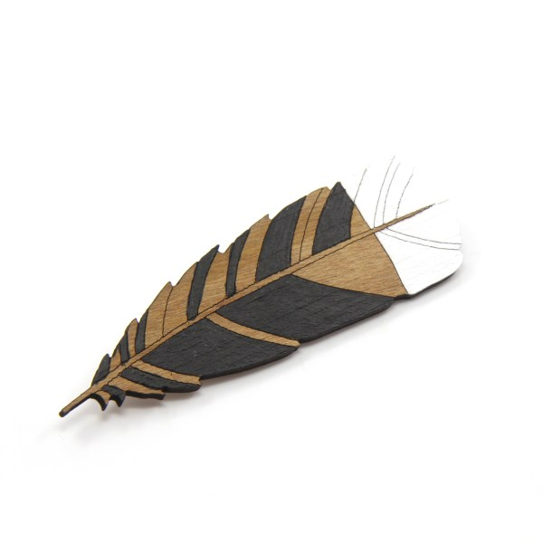 Huia Feather Brooch