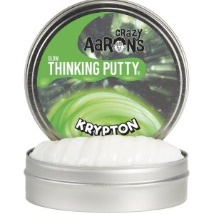 Crazy Aaron's Krypton Thinking Putty, Thinking Putty, Putty, Slime, Glow In The Dark, Green, Science, Fun, Gift, Kids, Toy, Experiment,