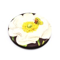 Gift, Mirror, Pocket Mirror, Wolfkamp and Stone, Mt Cook Lily, Flower