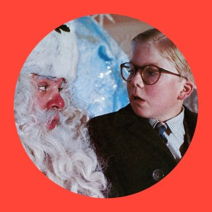 A Christmas Story. Image of Santa and Ralphie Parker