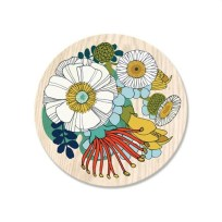 Folk NZ Flowers Coaster, Tanya Wolfkamp