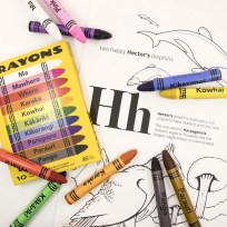 Te Reo Crayons and New Zealand A-Z Colouring Book
