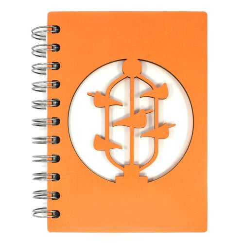 Bucket Fountain Notebook - Orange