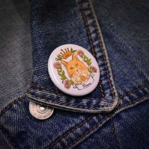Mittens Button Badge