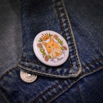 Mittens Button Badge
