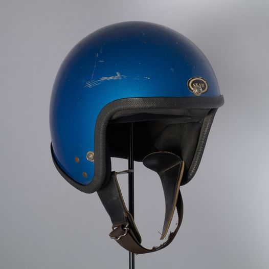 Helmet was worn by Anne Bogle during other anti-tour protests.