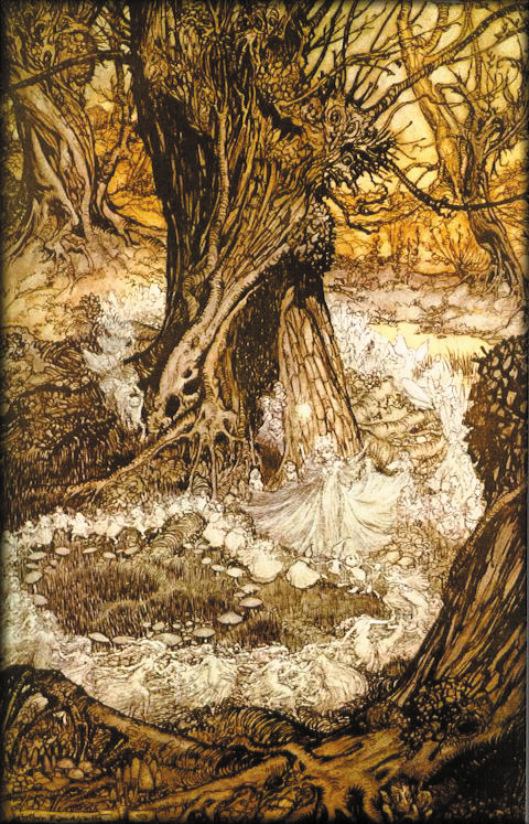 'Come, Now a Roundel' by Arthur Rackham