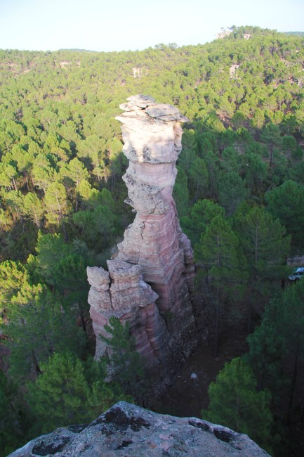 The Torre Balbina, a spike of stone on the ridge overlooking the Selva Pascuala cave. Photo by Juan Francisco Ruiz López