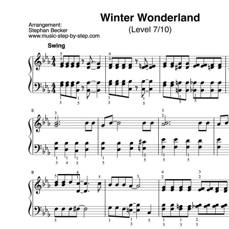 Winter Wonderland Klavier