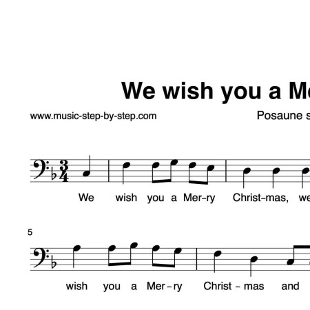 """""""We wish you a Merry Christmas"""" für Posaune solo 