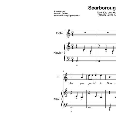 """""""Scarborough Fair"""" für Querflöte (Klavierbegleitung Level 3/10)   inkl. Aufnahme"""