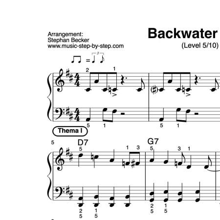 """Backwater Blues"" für Klavier (Level 5/10) | inkl. Aufnahme, Text und Solo music-step-by-step"