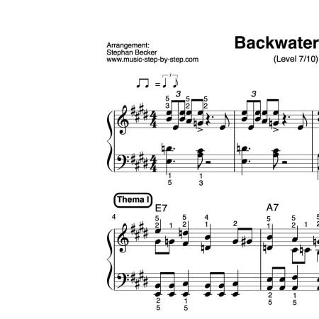 """Backwater Blues"" für Klavier (Level 7/10) | inkl. Aufnahme, Text und Solo music-step-by-step"