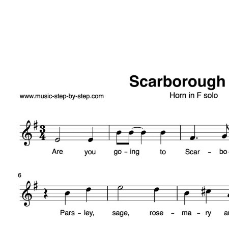 """Scarborough Fair"" für Horn in F solo 