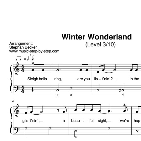 """Winter Wonderland"" für Klavier (Level 3/10) 