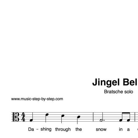 """""""Jingle Bells"""" für Bratsche solo   inkl. Aufnahme und Text by music-step-by-step"""