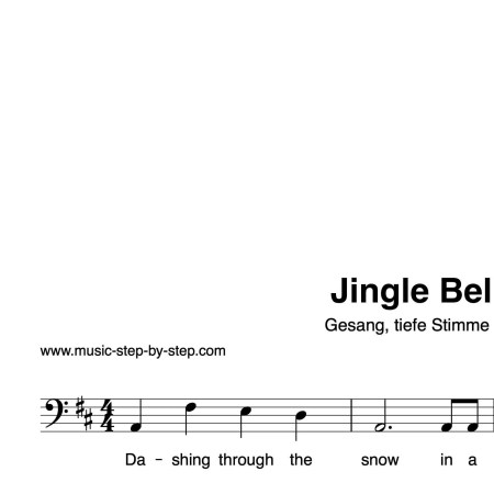 """""""Jingle Bells"""" für Gesang, tiefe Stimme solo   inkl. Aufnahme und Text by music-step-by-step"""