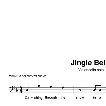 """Jingle Bells"" für Cello solo 