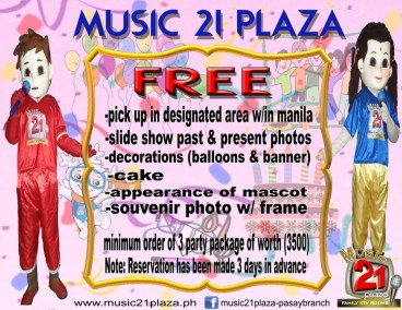 Pasay Promo Minimum order of 3 party package of worth P3500.00 (2)