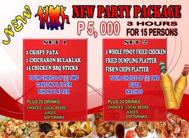 Pasay Branch Promo New Party Package Set 1 2