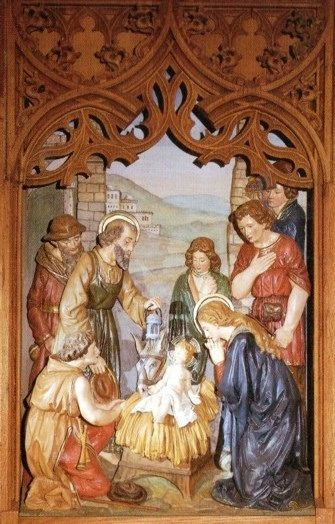 Krippenszene - Hochaltar, St. Aloysius, Iserlohn