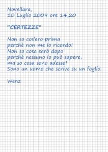 """""""Certezze"""" - Poesia di Enzo Crotti sul vivere il presente"""