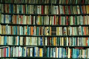 Libreria con libri di Parigi in Francia