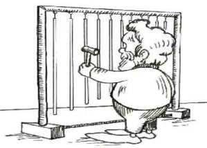 Disegno campane tubolari suonate