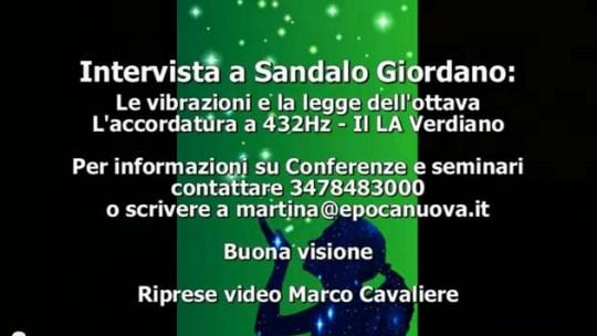 Video intervista sull'accordatura a 432 Hz di Giordano Sandalo