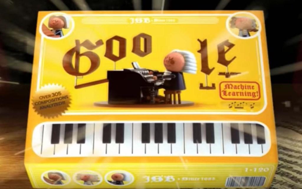 Il Doodle di Google dedicato a Bach