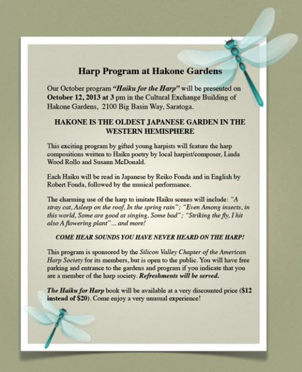 1012 Hakone Gardens as shared by Sonya Yu, harp teacher in San Jose