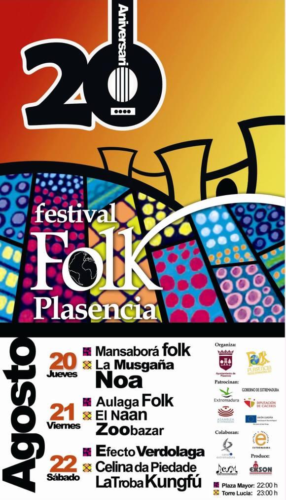 Cartel del Folk Plasencia