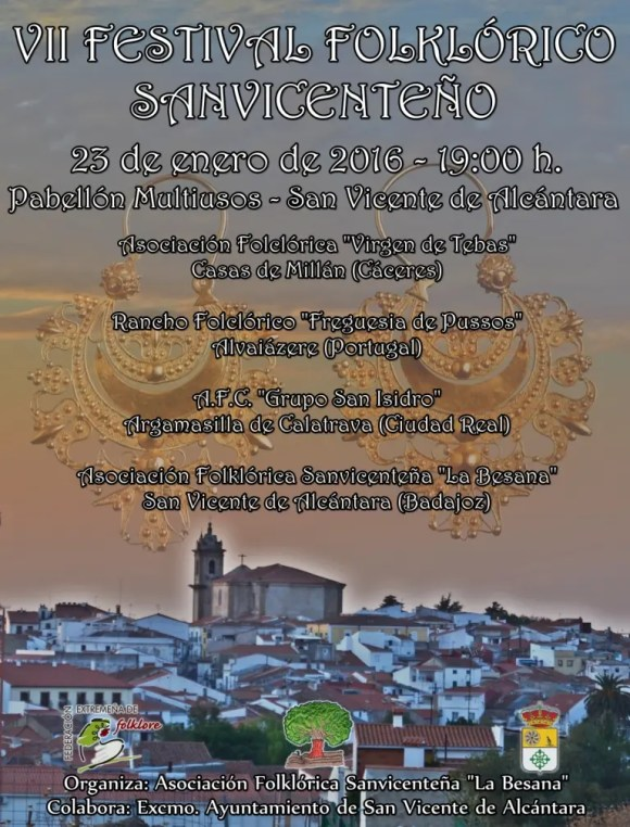 Cartel del VII Festival Folklórico Sanvicenteño