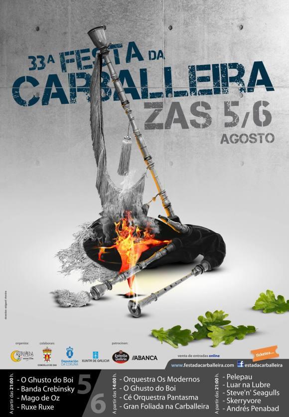 Cartel de la 33ª Festa da Carballeira