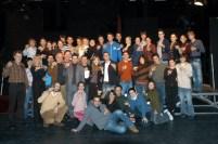 Foto di gruppo con docenti e studenti di entrambe le Accademie MADÁCH-MUSICAL-MŰHELY e MTS - MUSICAL! THE SCHOOOL