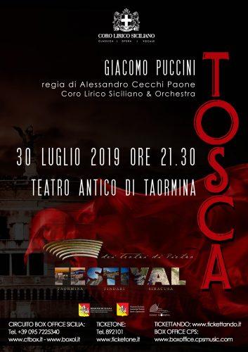 Festival dei teatri di pietra- TOSCA TAORMINA 2019