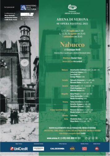 Manifesto Nabucco Arena di Verona 2021