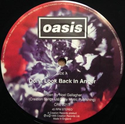 Disco del sencillo Don't look back in anger