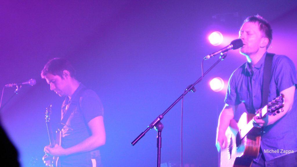 El grupo Radiohead durante una actuación en la ciudad holandesa de Amsterdam