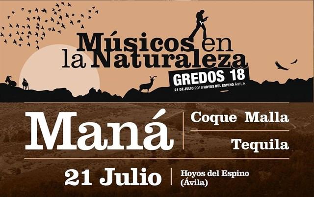 Cartel del concierto Músicos en la Naturaleza 2018