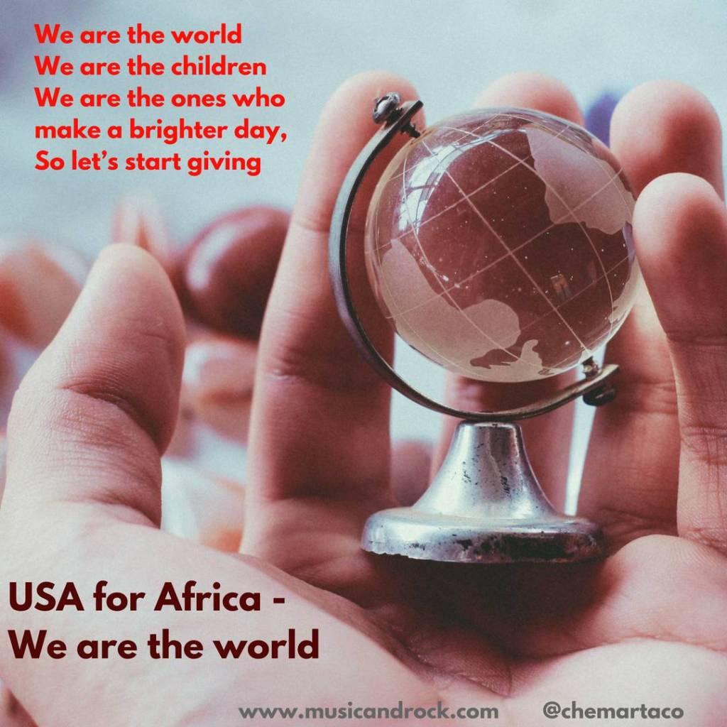 Letra de We are de world