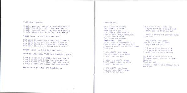 Letras en el disco Franz Ferdinand