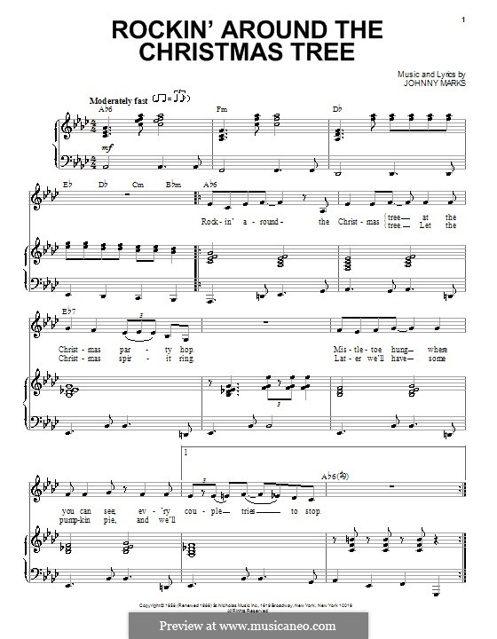 Rockin Around The Christmas Tree Saxophone Solo Sheet Music ...