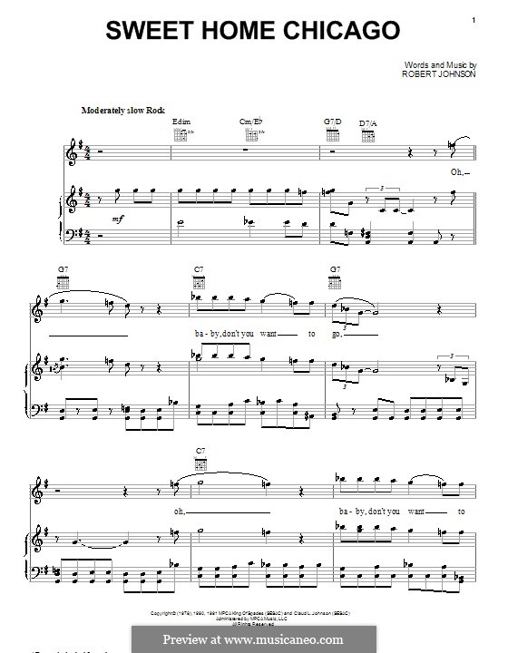 12 rows· sweet home chicago digital sheet music. Sweet Home Chicago Eric Clapton By R L Johnson On Musicaneo