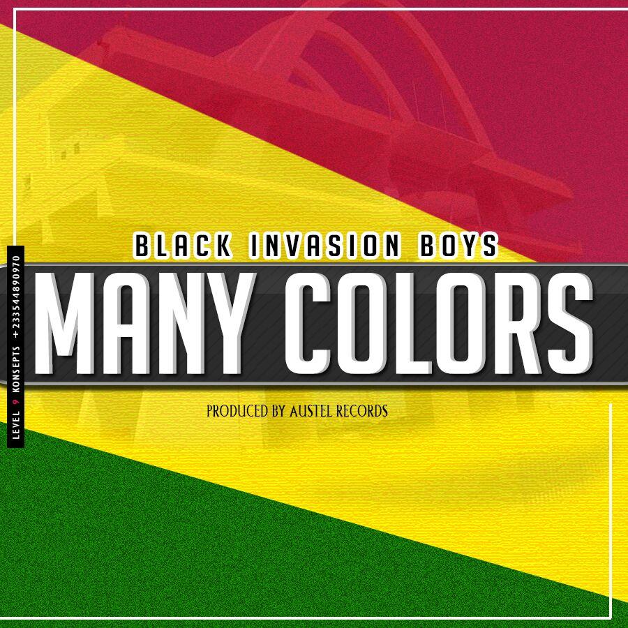 BLACK INVASION BOYS – MANY COLOURS (PRODBY AUSTEL RECORDS)