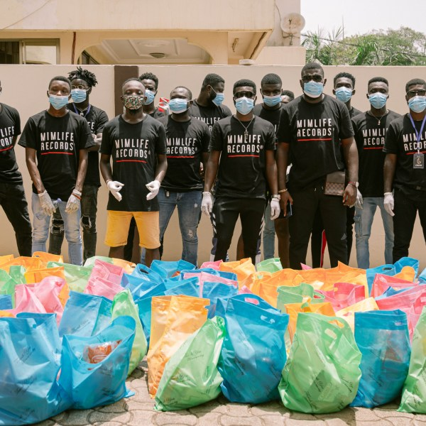 Mimlife Records Donates Items To Residents Of Tema