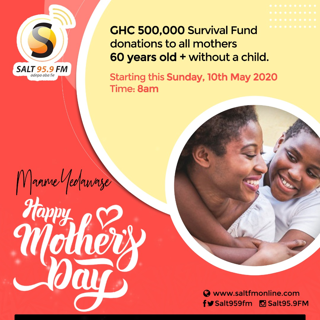 Salt Media Uses Mothers Day 2020 To Launch GHC 500,000 Survival Fund For Women