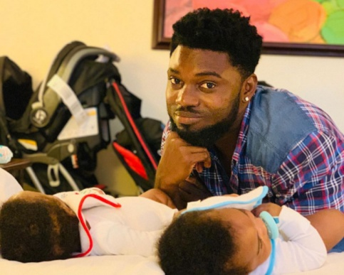 Donzy Finally Shows Off The Faces Of His Beautiful Twins
