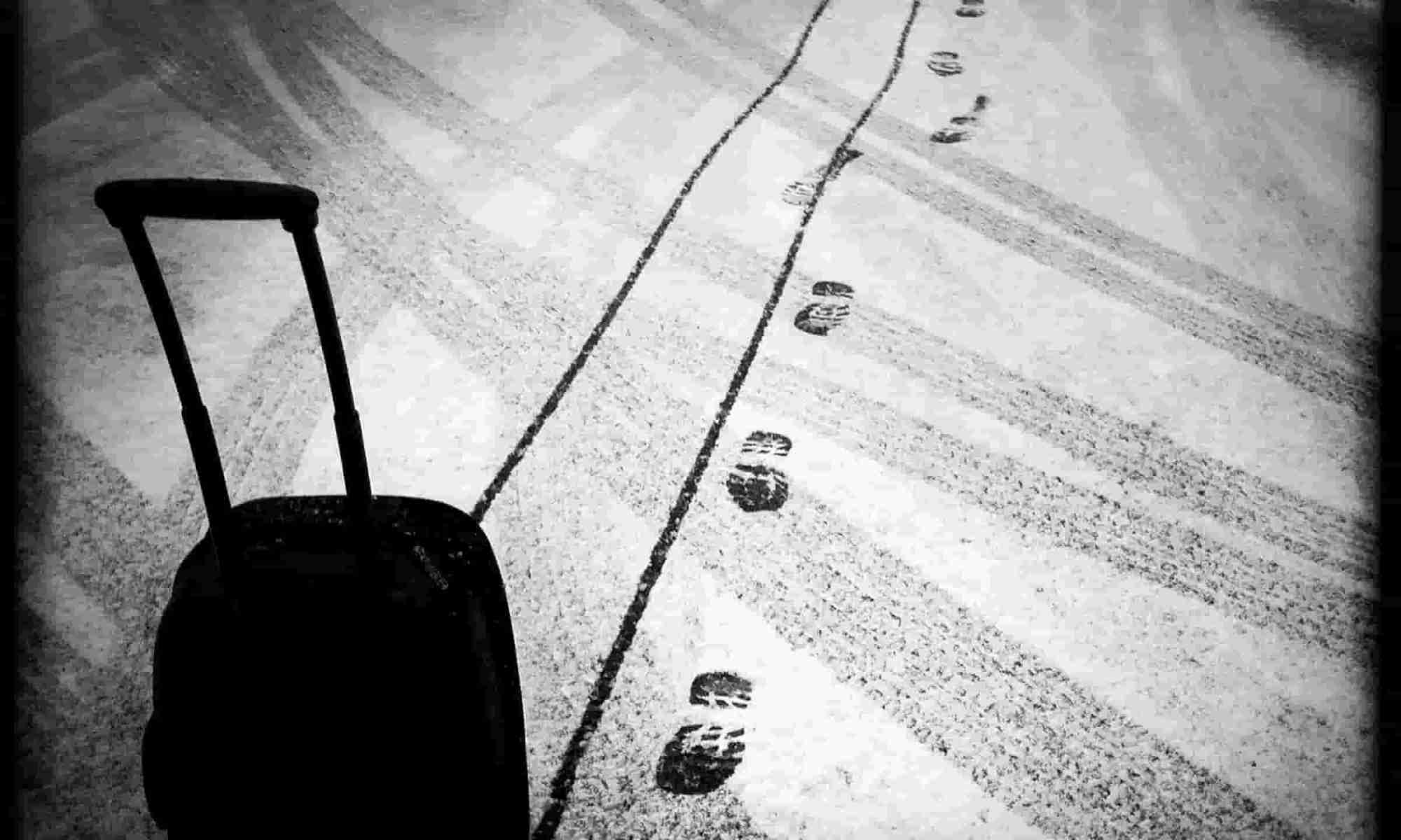 Black & white suitcase